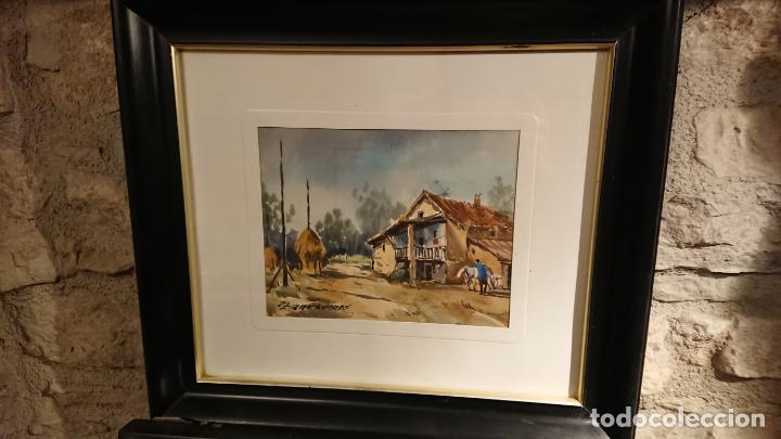 Arte: Antiguos 2 cuadro / cuadros acuarela del pintor Felip Brugueras Pallach - Foto 8 - 152554862