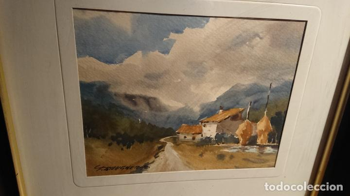 Arte: Antiguos 2 cuadro / cuadros acuarela del pintor Felip Brugueras Pallach - Foto 9 - 152554862