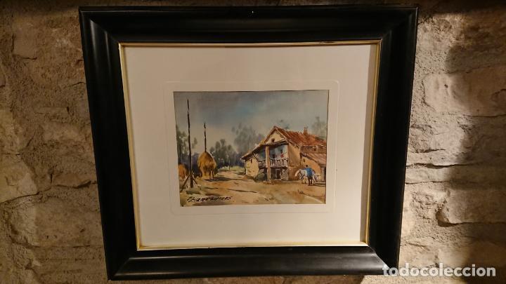Arte: Antiguos 2 cuadro / cuadros acuarela del pintor Felip Brugueras Pallach - Foto 10 - 152554862