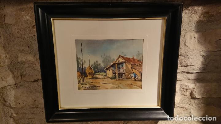 Arte: Antiguos 2 cuadro / cuadros acuarela del pintor Felip Brugueras Pallach - Foto 11 - 152554862