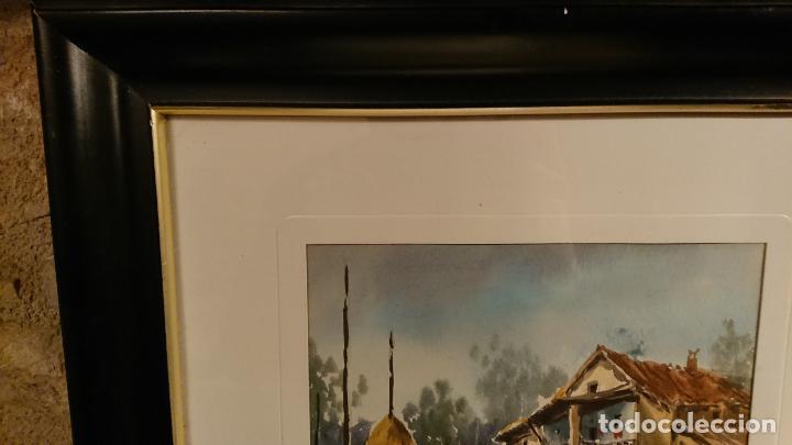 Arte: Antiguos 2 cuadro / cuadros acuarela del pintor Felip Brugueras Pallach - Foto 12 - 152554862