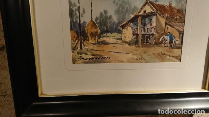 Arte: Antiguos 2 cuadro / cuadros acuarela del pintor Felip Brugueras Pallach - Foto 15 - 152554862