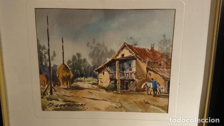 Arte: Antiguos 2 cuadro / cuadros acuarela del pintor Felip Brugueras Pallach - Foto 16 - 152554862