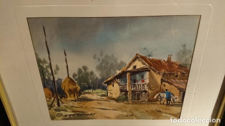 Arte: Antiguos 2 cuadro / cuadros acuarela del pintor Felip Brugueras Pallach - Foto 17 - 152554862