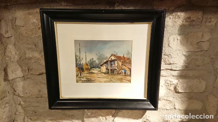 Arte: Antiguos 2 cuadro / cuadros acuarela del pintor Felip Brugueras Pallach - Foto 18 - 152554862