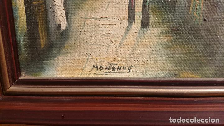 Arte: Antiguos 2 cuadro / cuadros al oleo del pintor Angel Montanuy pueblo de Sitges y molino de agua - Foto 5 - 152555938