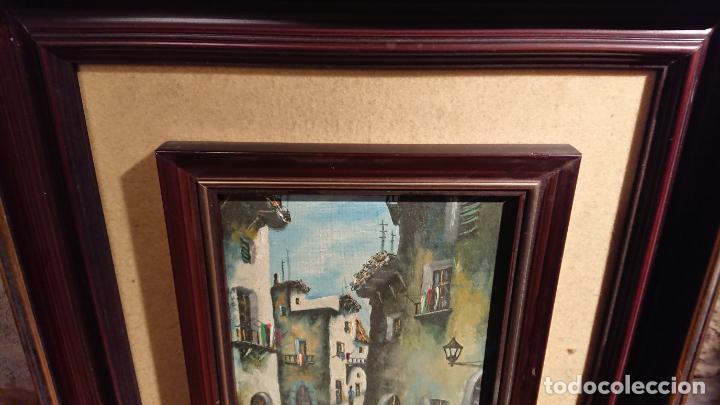 Arte: Antiguos 2 cuadro / cuadros al oleo del pintor Angel Montanuy pueblo de Sitges y molino de agua - Foto 6 - 152555938