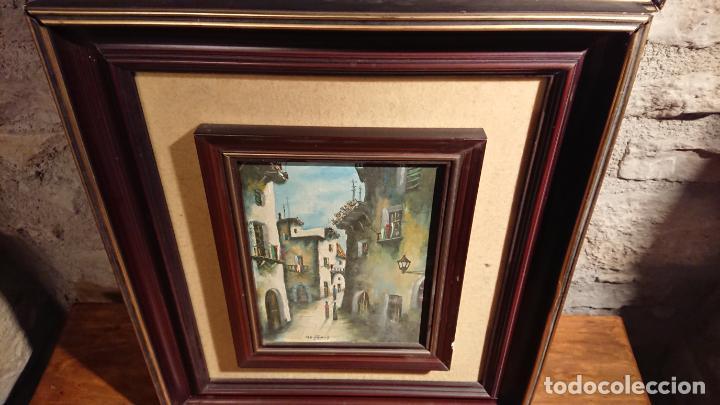 Arte: Antiguos 2 cuadro / cuadros al oleo del pintor Angel Montanuy pueblo de Sitges y molino de agua - Foto 7 - 152555938