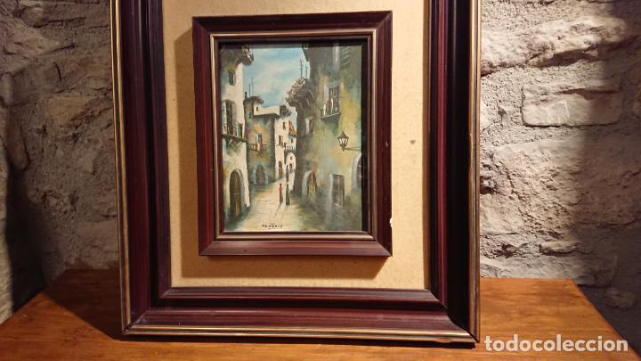Arte: Antiguos 2 cuadro / cuadros al oleo del pintor Angel Montanuy pueblo de Sitges y molino de agua - Foto 8 - 152555938