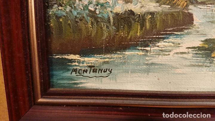 Arte: Antiguos 2 cuadro / cuadros al oleo del pintor Angel Montanuy pueblo de Sitges y molino de agua - Foto 18 - 152555938