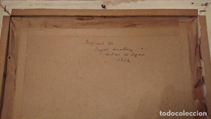Arte: Antiguos 2 cuadro / cuadros al oleo del pintor Angel Montanuy pueblo de Sitges y molino de agua - Foto 21 - 152555938