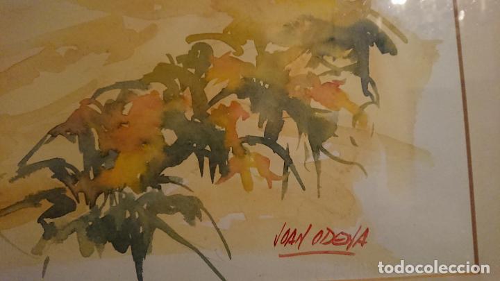 Arte: Antiguo cuadro acuarela de marina realizado por el pintor Joan Odena enmarcado - Foto 7 - 152789994