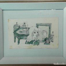 Arte: BOADA, PEDRO, ILUSTRACIÓN ORIGINAL 1972. Lote 123360015