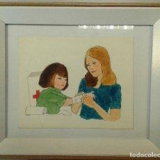 Arte: BOADA, PEDRO, ILUSTRACIÓN ORIGINAL 1972. Lote 123358887