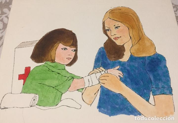 Arte: Boada, Pedro, ilustración original 1972 - Foto 2 - 123358887