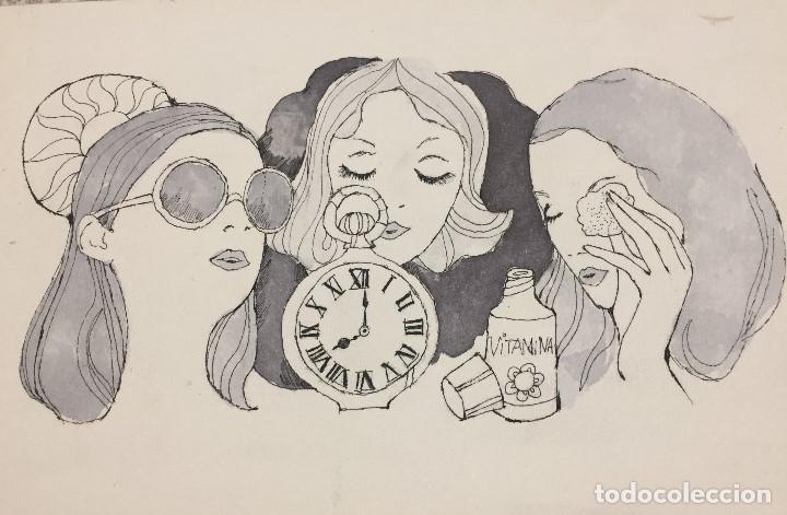 Arte: Boada, Pedro, ilustración original 1972 - Foto 2 - 123358447