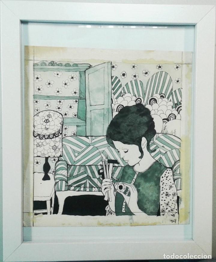 BOADA, PEDRO, ILUSTRACIÓN ORIGINAL 1972 (Arte - Acuarelas - Contemporáneas siglo XX)