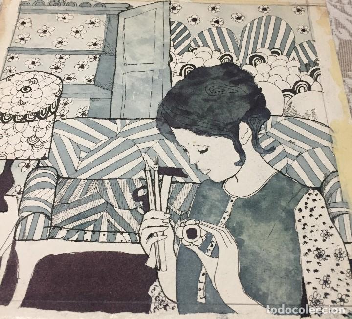 Arte: Boada, Pedro, ilustración original 1972 - Foto 2 - 123364303