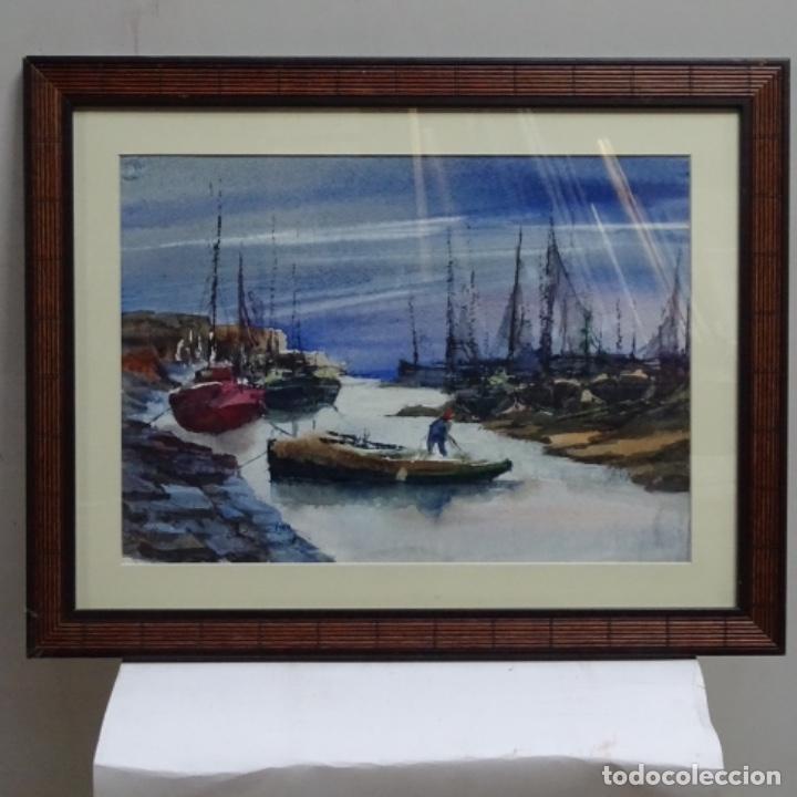 Arte: Acuarela y óleo sobre cartulina firmado moni 88. - Foto 2 - 153142170