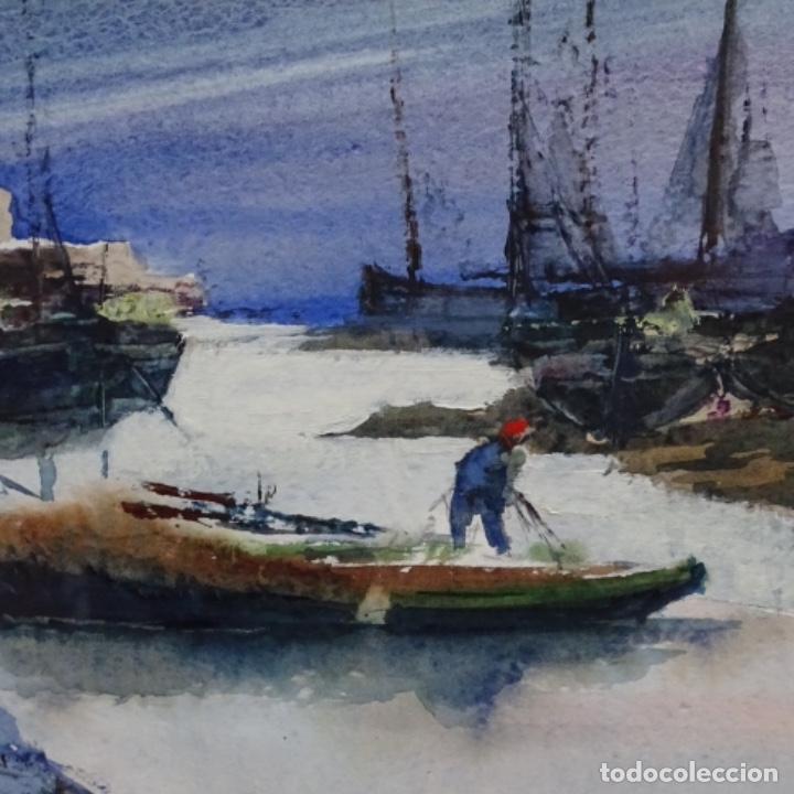 Arte: Acuarela y óleo sobre cartulina firmado moni 88. - Foto 5 - 153142170