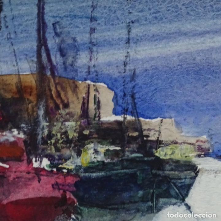 Arte: Acuarela y óleo sobre cartulina firmado moni 88. - Foto 6 - 153142170