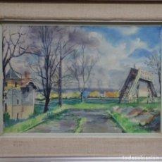 Arte: ACUARELA DE JORDI TEY.1963.. Lote 153142786