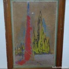 Arte: ANTIGUA ACUARELA DE SALVADOR AULESTIA VAZQUEZ(BARCELONA 1919-1994).AÑOS 40-50 PRIMERA ÉPOCA.. Lote 153145426