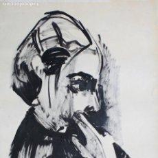 Arte: JOAN GRANADOS LLIMONA, RETRATO, ACUARELA. 75X51,5CM. Lote 153194454