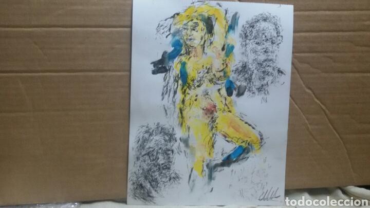 Arte: Dibujo acuarela original erotico - Foto 2 - 153264289