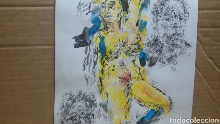 Arte: Dibujo acuarela original erotico - Foto 3 - 153264289