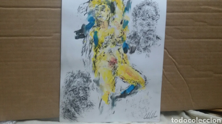Arte: Dibujo acuarela original erotico - Foto 4 - 153264289