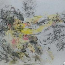 Arte: DIBUJO ACUARELA ORIGINAL EROTICO ORIGINAL. Lote 153264681