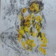 Arte: DIBUJO ACUARELA ORIGINAL EROTICO ORIGINAL. Lote 153264984