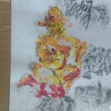 Arte: DIBUJO ACUARELA ORIGINAL EROTICO ORIGINAL. Lote 153265309