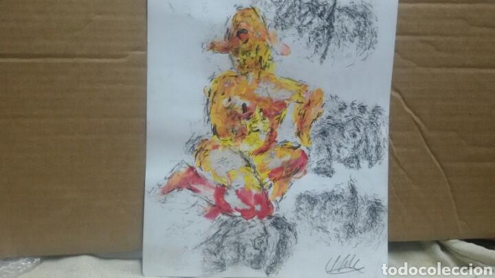 Arte: Dibujo acuarela original erotico original - Foto 2 - 153265309