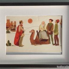 Arte: ORIGINAL DE MIREIA CATALA PARA ENCICLOPEDIA INFANTIL, FIRMADA Y CATALOGADA,40X30CMS.. Lote 108013239