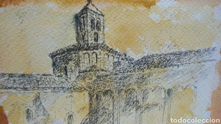 Arte: Acuarela dibujo original en el campanario - Foto 2 - 153270173
