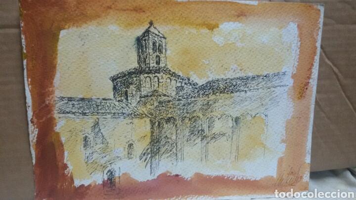 Arte: Acuarela dibujo original en el campanario - Foto 3 - 153270173