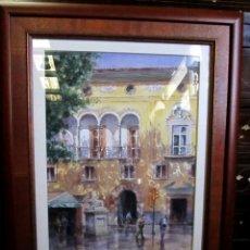 Arte: CUADRO, ACUARELA DE CALLE DE MALLORCA , FAUSTINO BLANCO VEGA . Lote 153441174