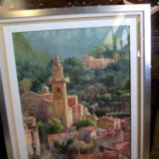 Arte: CUADRO, ACUARELA DE CARTUJA DE VALLEMOSA 2, EN MALLORCA , FAUSTINO BLANCO VEGA CUADRO, ACUARELA DE. Lote 153441354