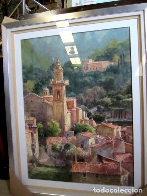 Arte: Cuadro, acuarela de Cartuja de Vallemosa 2, en Mallorca , Faustino Blanco Vega Cuadro, acuarela de - Foto 2 - 153441354