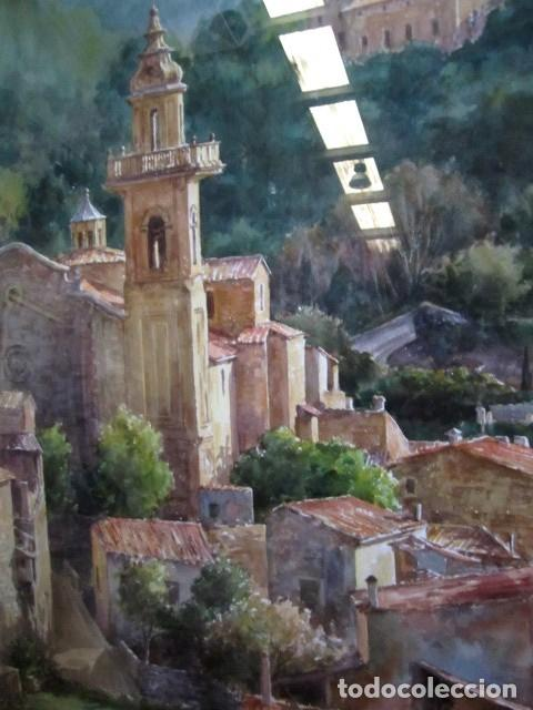 Arte: Cuadro, acuarela de Cartuja de Vallemosa 2, en Mallorca , Faustino Blanco Vega Cuadro, acuarela de - Foto 3 - 153441354
