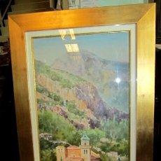 Arte: CUADRO, ACUARELA DE CARTUJA DE VALLEMOSA, EN MALLORCA , FAUSTINO BLANCO VEGA . Lote 153441470