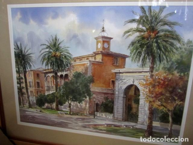 Arte: Cuadro, acuarela de Consulado del Mar, en Mallorca , Faustino Blanco Vega - Foto 2 - 153441618