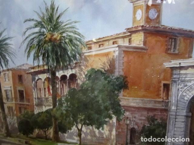 Arte: Cuadro, acuarela de Consulado del Mar, en Mallorca , Faustino Blanco Vega - Foto 3 - 153441618