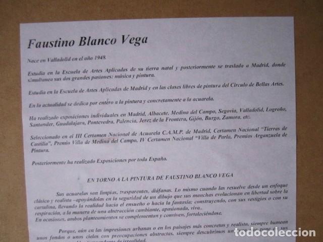 Arte: Cuadro acuarela de calle de Mallorca, Faustino Blanco Vega - Foto 5 - 153442090
