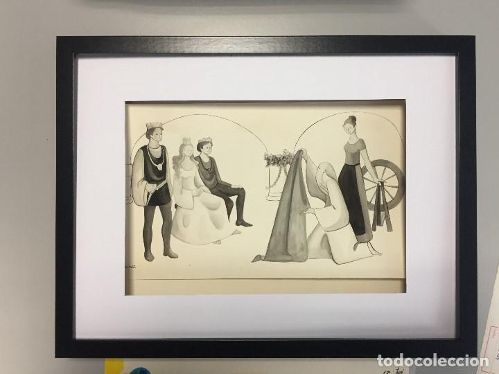 MIREIA CATALÁ, ILUSTRACIÓN ORIGINAL, 40X30 CMS. (Arte - Acuarelas - Contemporáneas siglo XX)