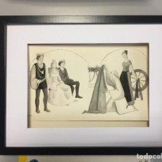 Arte: MIREIA CATALÁ, ILUSTRACIÓN ORIGINAL, 40X30 CMS.. Lote 153503370