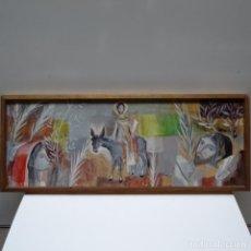 Arte: ACUARELA-TEMPLE SOBRE MADERA ANONIMO.GRAN CALIDAD.. Lote 153744706