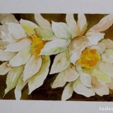 Arte: FLORES AMARILLAS OBRA DE LUESMA. Lote 153878702
